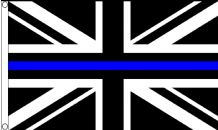 Thin Blue Line United Kingdom UK Pro-Police Awareness 5'x3'  Flag